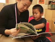 mom and child inlibrary