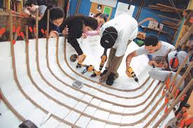kids learning by building
